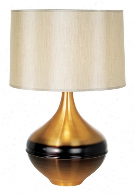 Babette Holland Kiss Rust Table Lamp (16936)