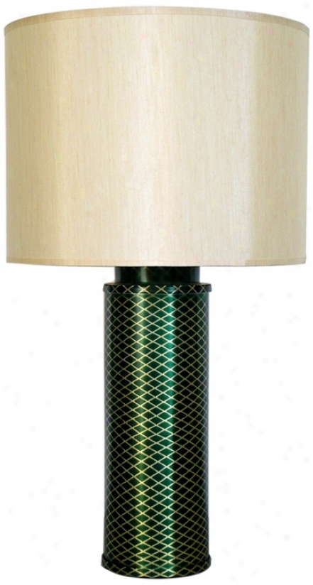 Babette Hooland Matrix Emerald Modern Table Lamp (v5376)