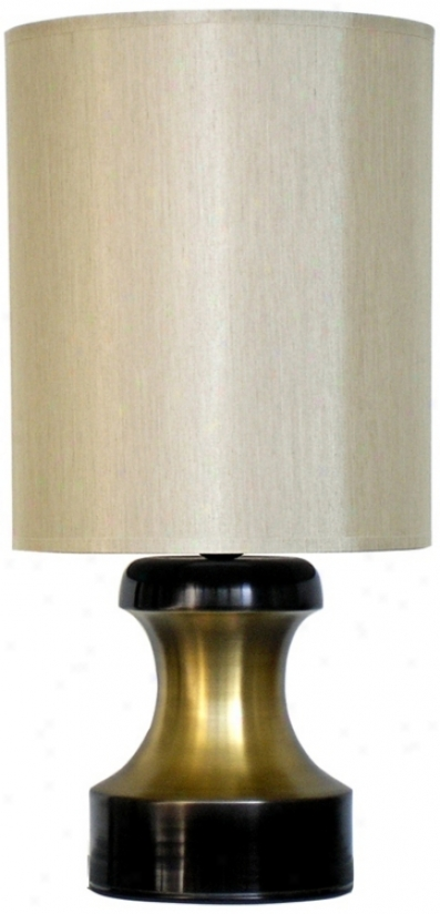 Babette Holland Pawn Two-tone Gold Modern Table Lamp (v5513)