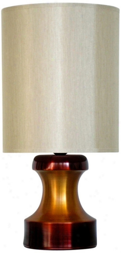 Babette Holland Pawn Two-tone Rust Mod3rn Table Lamp (v5512)