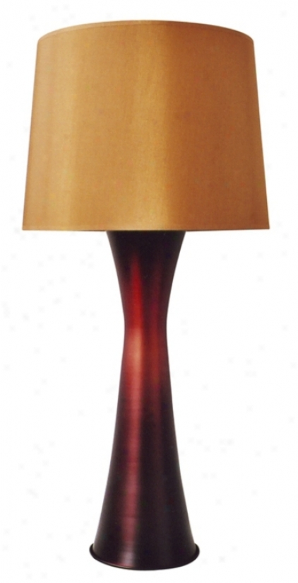 Babetye Holland Raku Red Skyscraper Stand  Lamp (57622)