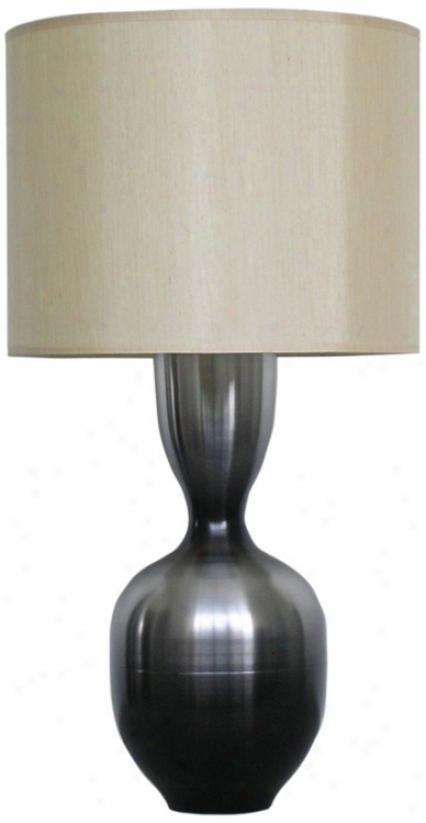 Babette Holland Ruby Smoke Fade Modern Table Lamp (v5250)