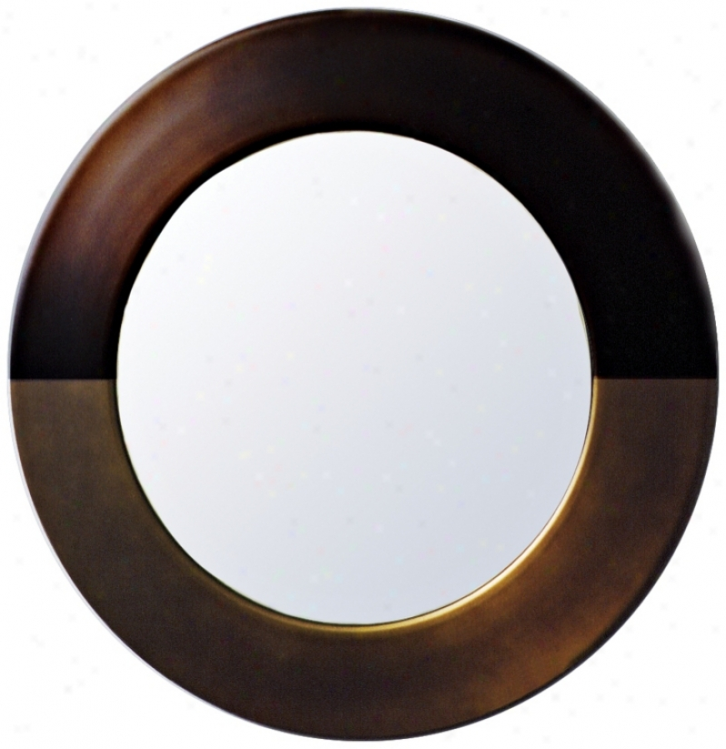 "Babette Holland Sunset Bronze Spherical 30"" Wide Wall Mirror (m5635)"