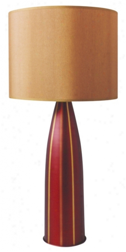 Babette Holland Val Raku Stripe Aluminum Table Lamp (57615)