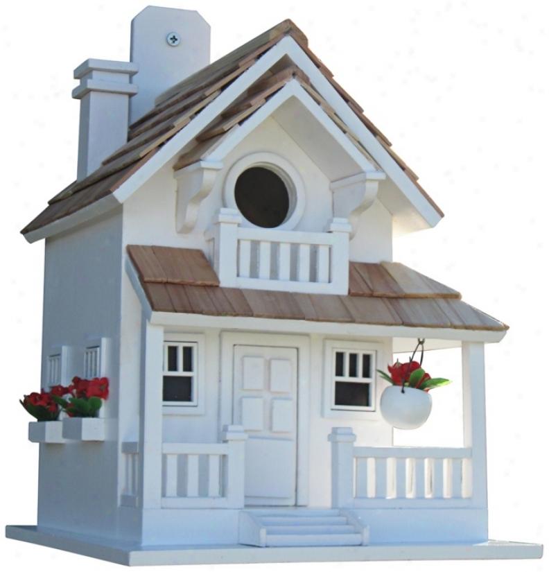 Backyard Bird Cottage White Birdhouse (t3226)
