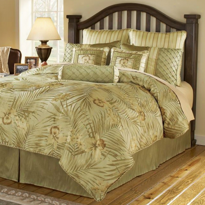 Bahama Green 14-piece King Bed Set (h6122)