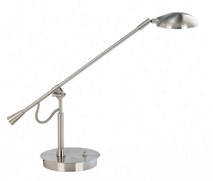 Balance Anterior limb Brushed Nickel Led Desk Lamp (79101)
