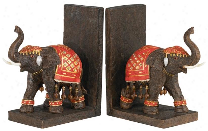 Bali Elephant Bookends (20182)