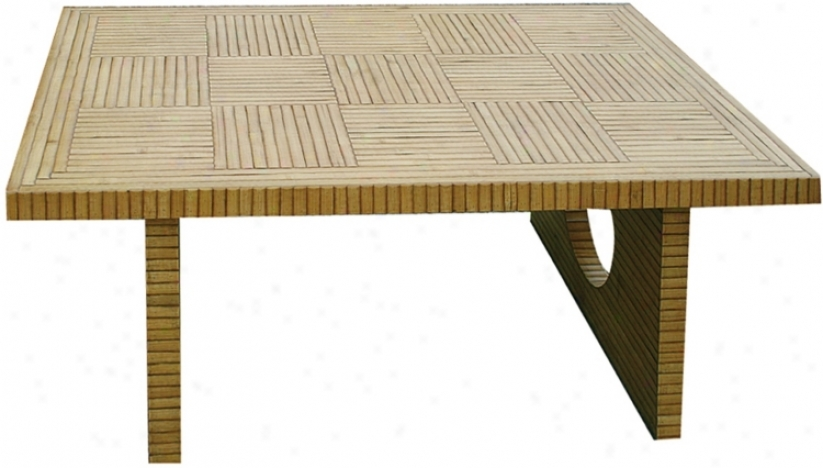 Bamboo Parquet Coffee Table (h2365)