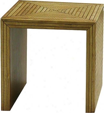 Bamboo Parquet End Table (h2360)