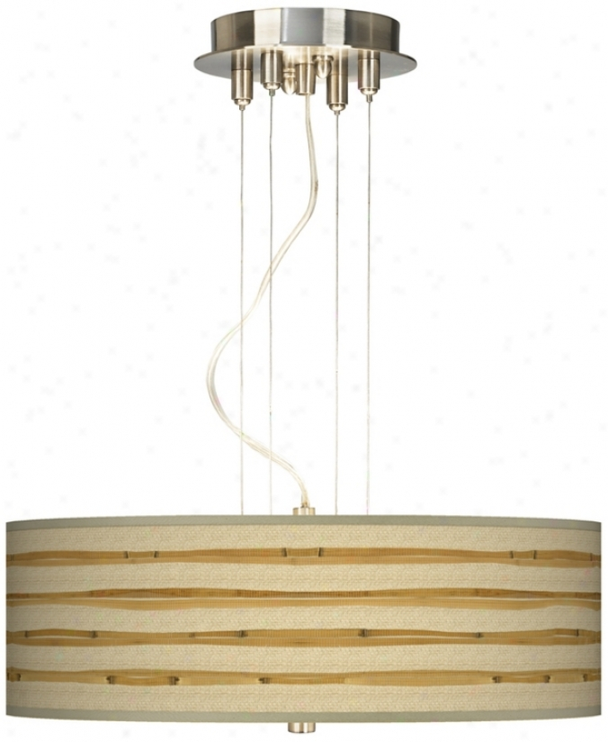 "Bamboo Wrap 20"" Wide Three Light Pendant Chandelier (17822-v3117)"