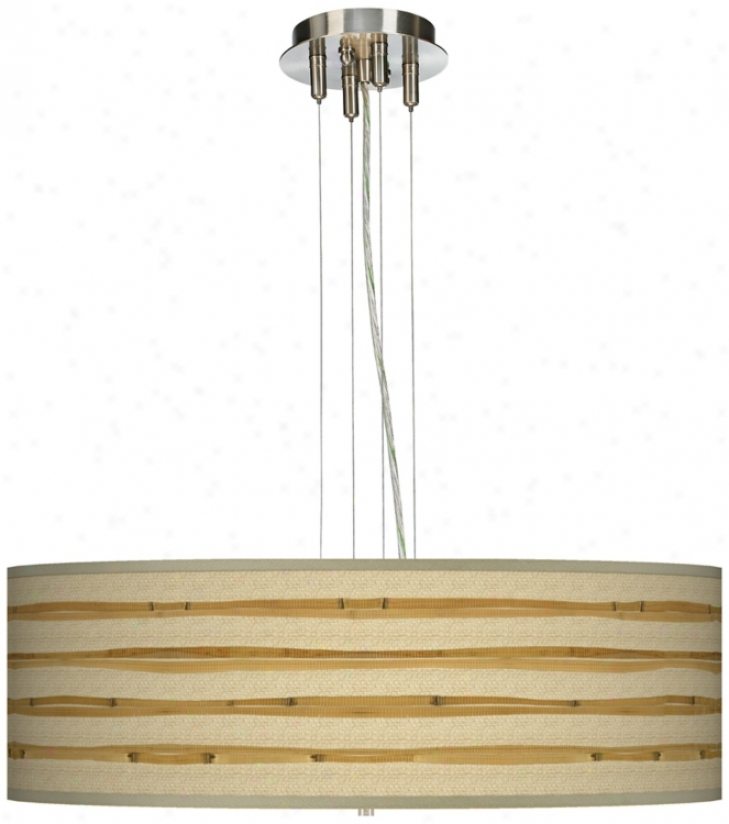 "Bamboo Wrap 24"" Wide Four Light Pendant Chandelier (17276-v3114)"