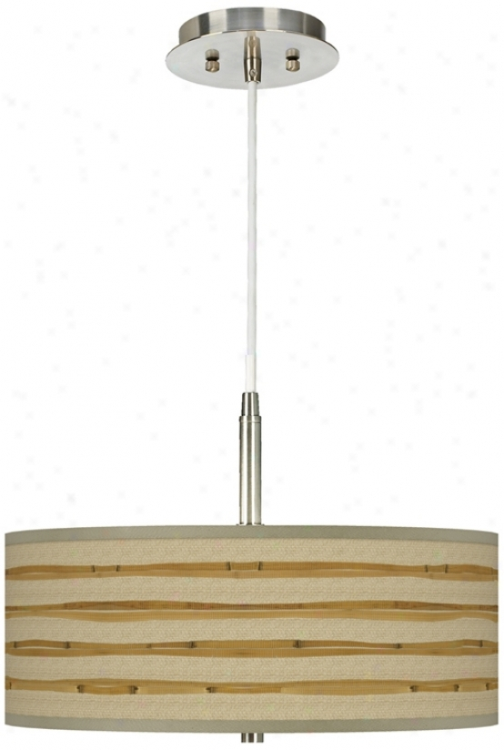 "Bamboo Wrap Giclee 16"" Wide Pendant Chandelier (g9447-v3123)"