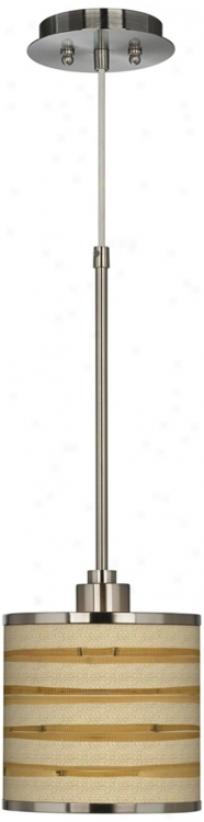 Bamboo Wrap Giclee Incandescence Mini Pendant Light (t6312-v3163)
