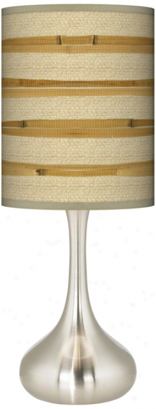 Bamboo Wrap Giclee Kiss Ta6le Lamp (k3334-v3092)