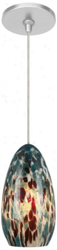 Banja Aquamarine With Satin Nickel Fusion Jac kMini Pendant (m9267-47250)