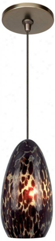 Banja Dark Amber With Bronze Fusion Jack Mini Pendant (m9270-m8561)