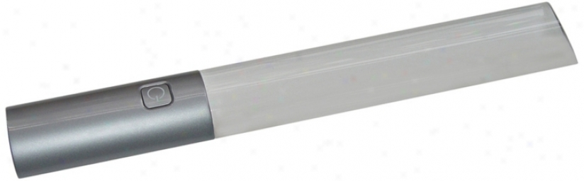 Bar Led Silver Magnifier (t4024)