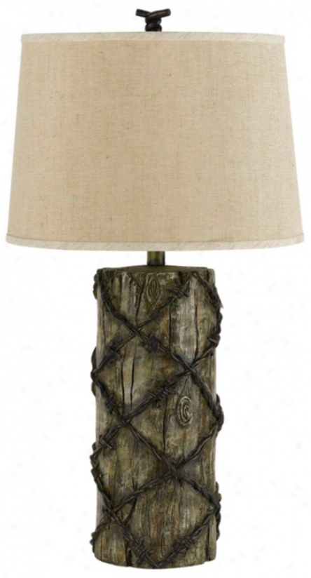 Barb-wire Rustic Table Lamp (p6676)