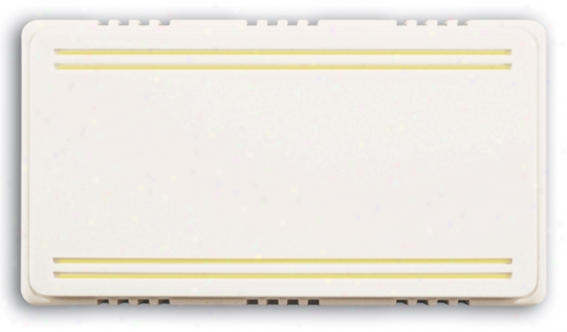 Basic Series 2-note White With Beige Trim Door Chime (k6210)