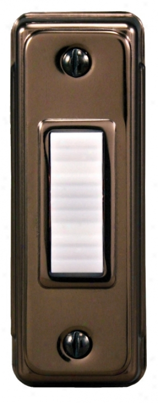 Basic Series Bronze With White Button Doorbell Button (k6295)