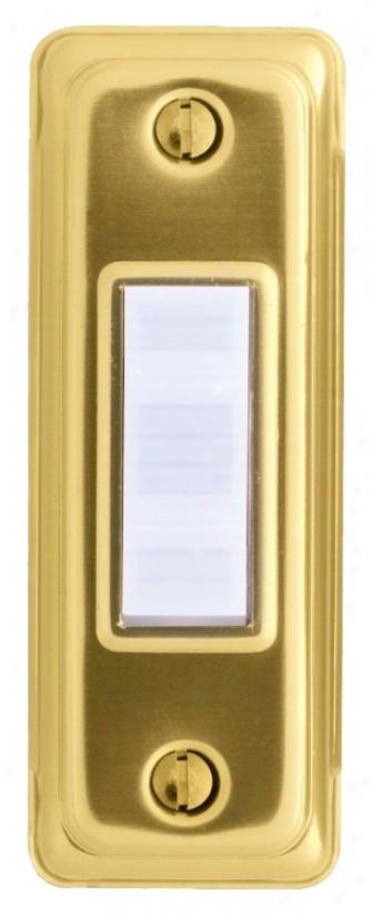 Basic Series Gold Doorbell Button (k6277)