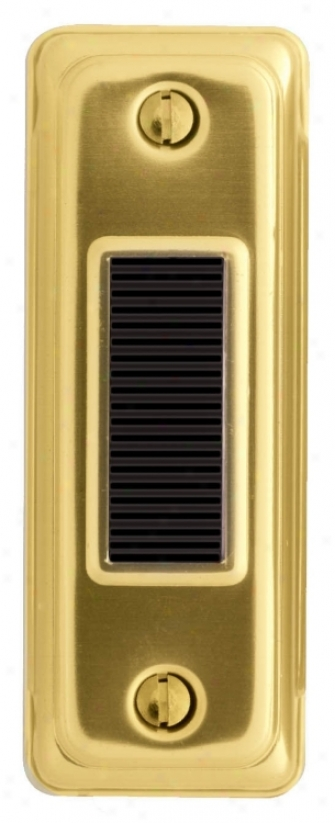 Basic Series Gold With Black Button Doorbell Button (k6278)
