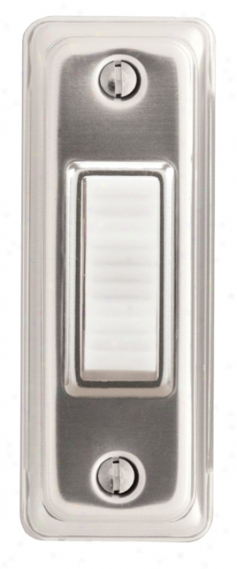 Basic Series Silver Lighted Doorbell uBton (k6292)