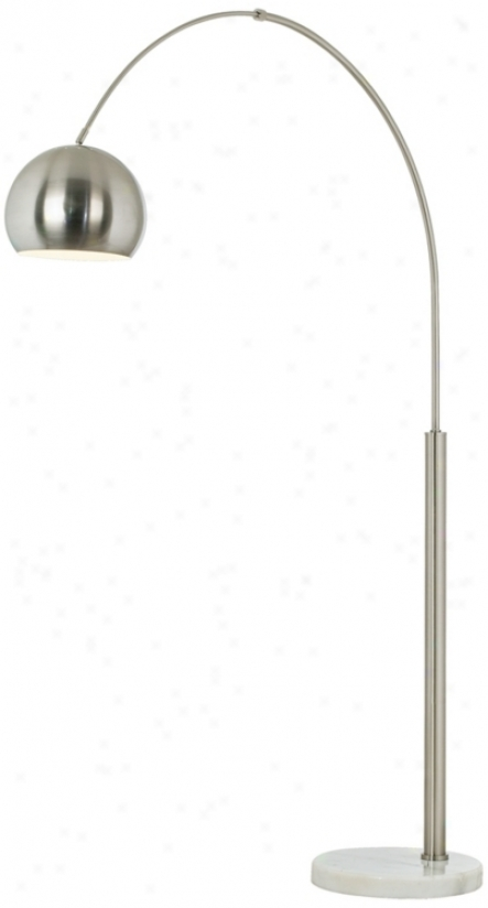 Basqque Steel And Brushed Nickel Arc Prevail over Lamp (p9457)