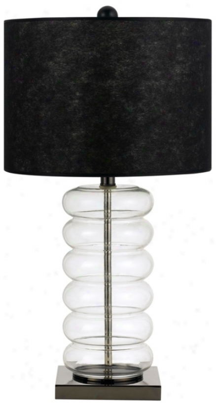 Bastia Glass Base Table Lamp (p6680)
