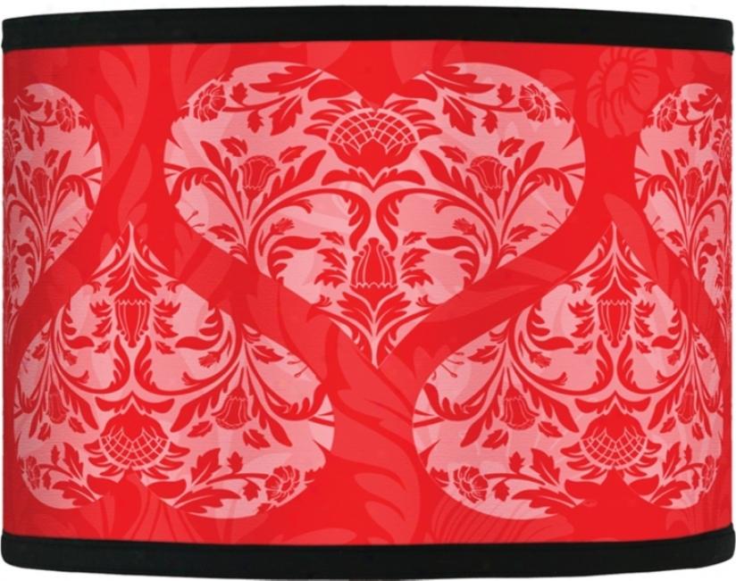 Be My Valentine Giclee Lamp Shade 13.5x13.5x10 (spider) (37869-f4787)