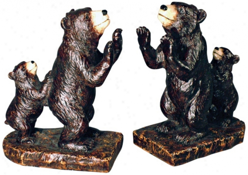 Bear Family Bookends (m1825)