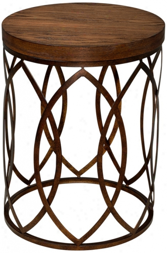 Beekman Round Wo0d And Metal Accent Table (u5157)