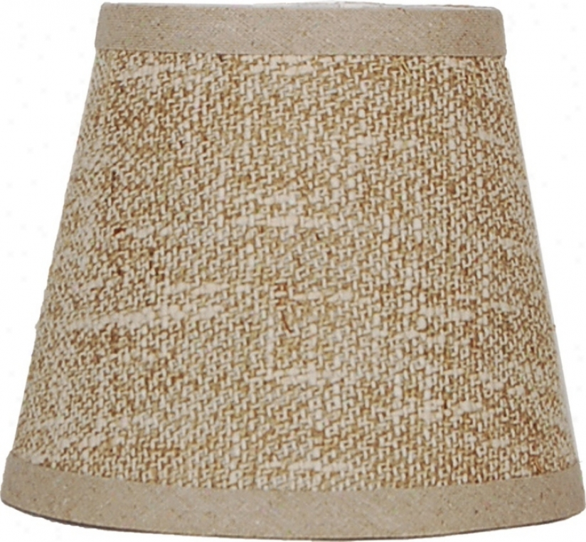 Beige And Cream Weave Shade 8x14x10.25 (s0ider) (k6563)