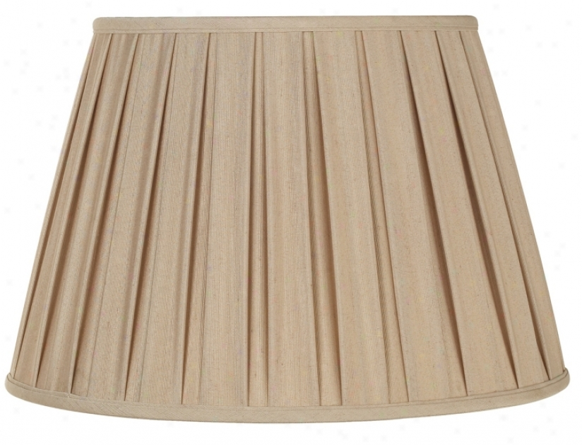 Beige Box Pleated Lamp Shade 12x18x12 (spider) (44888)