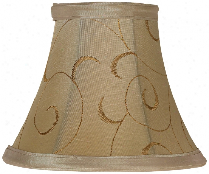 Golden Tan Square Cut Lamp Shade 5.25x10x9 (Spider) (23976