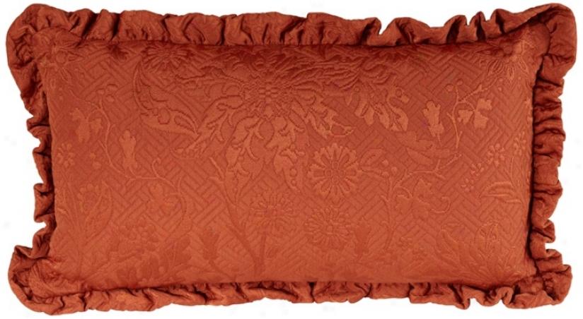 """Bella Collection Terracotta 18"""" Wide Lumbar Pillow (u0091)"""