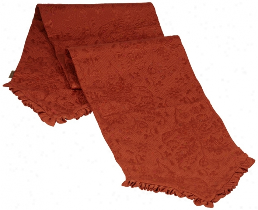 Bella Collection Terracotta Fabric Table Runner (u0103)