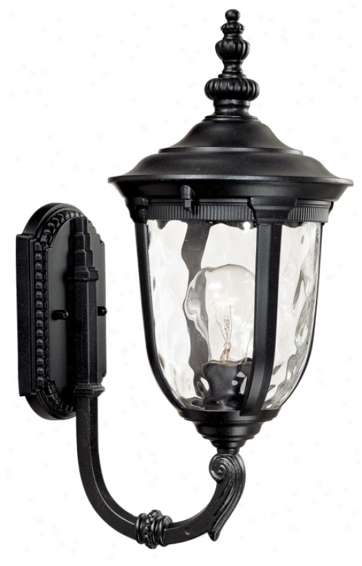 "Bellagio 16 1/2"" High Upbridge Arm Black Outdoor Wall Light (49277)"