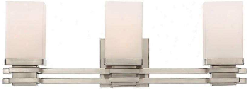 "Bennett Collection Satin Nickel 22"" Wide Bathriom Wall Light (u6153)"