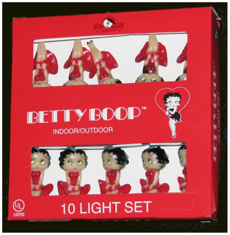 Betty Boop 10-light String Of Party Lights (n6342)