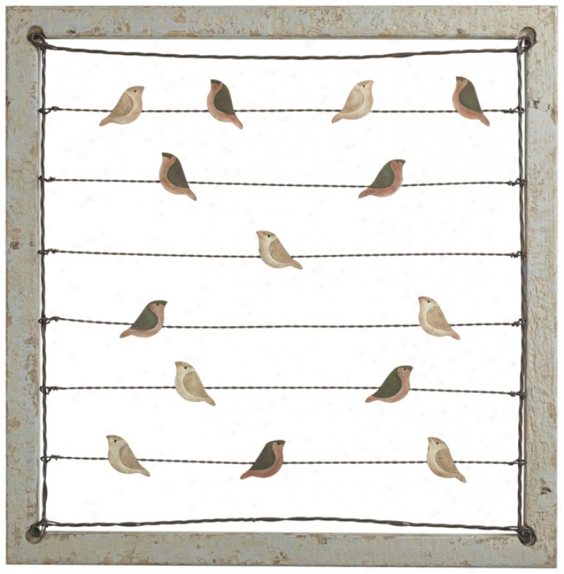 Birds On A Wire Card Or Image Holder Wall Decor (r2944)