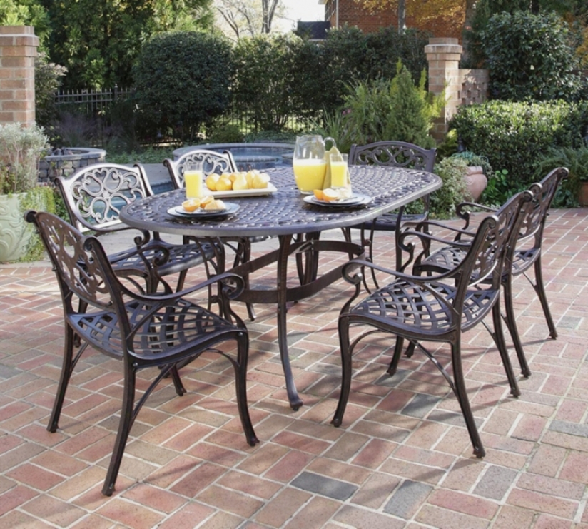 Biscayne Rust 7-piece Outdoor Index And Anterior limb Chairs Set (t1302)