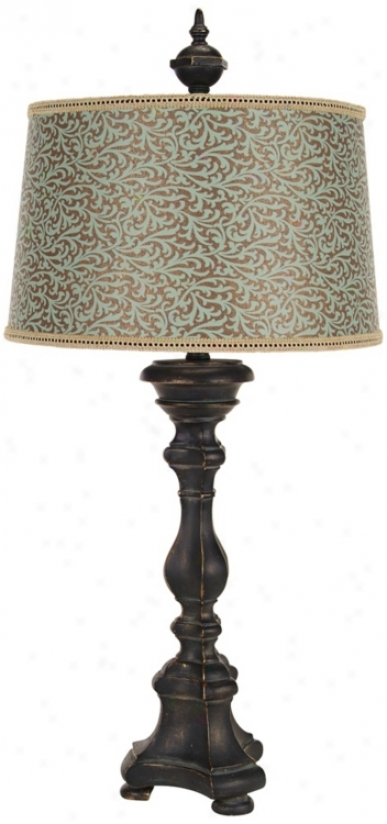 Black And Gold Candlestick Table Lamp (t2089)