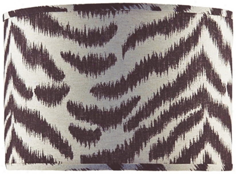 Black And Tan Zebra Shade 16x16x12 (spider) (p4570)