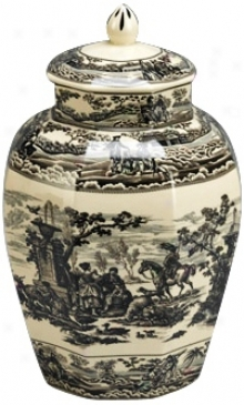 "Murky And White Porcelain 12 3/4"" High Jar (r3320)"