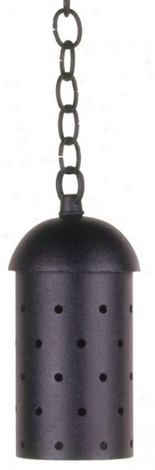 Black Cast Aluminum Hanging Cylidner (66539)
