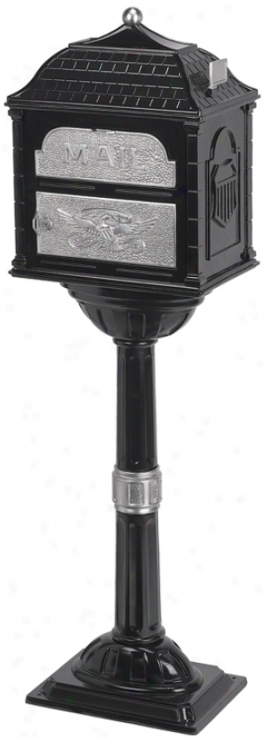 Mourning Classic Mailbox With Pedestal (93950)