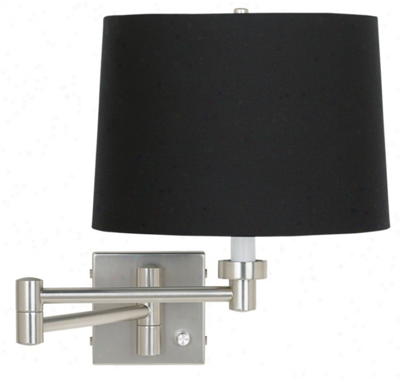 Black Drum Shade Plug-in Style Swing Arm (20762-88533)