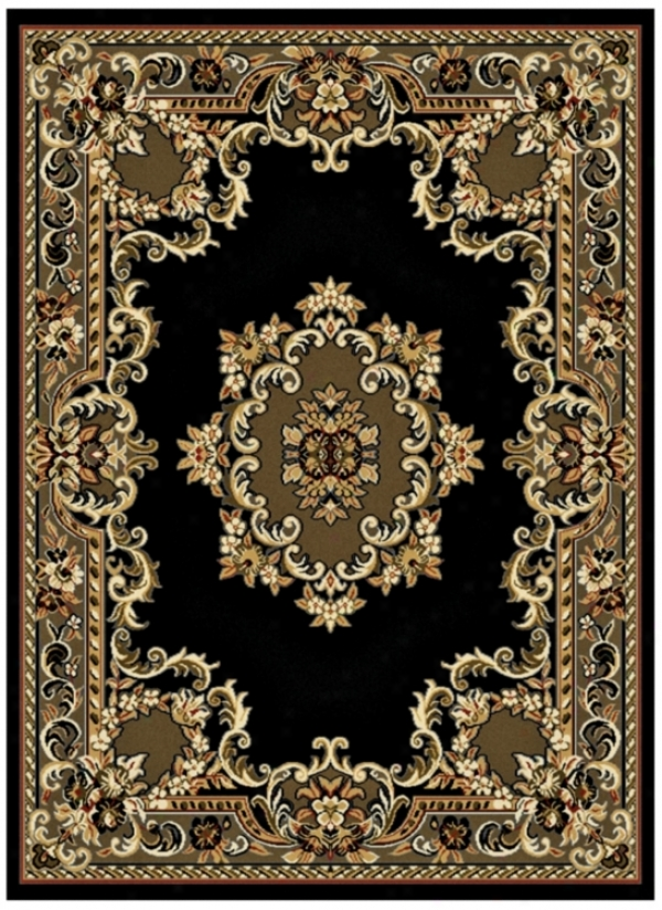 "Black Epiphany 7' 10""x10&#039 ;6"" Yard Rug (j3358)"